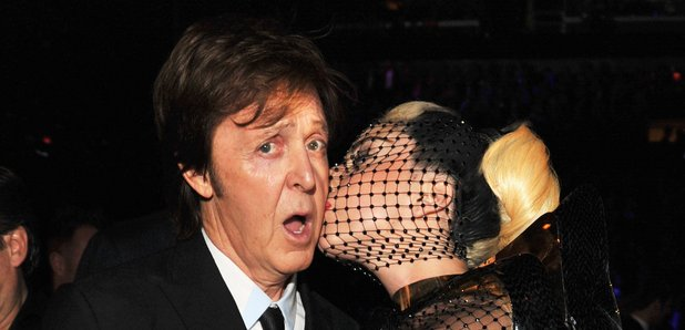 Lady Gaga and Paul McCartney at The Grammy Awards