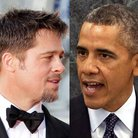 Related Celebrities Brad Pitt and Barack Obama