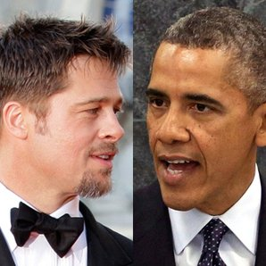 Related Celebrities Brad Pitt and Barack Obama