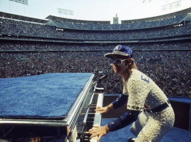 Elton John at the Dodger Stadium