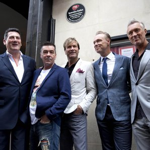 Spandau Ballet outside 'The Blitz'