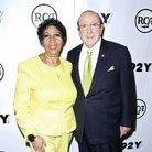 Aretha Franklin and producer Clive Davis pose befo