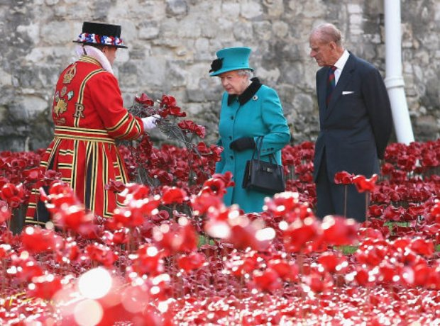 The Queen visits the Tower Of London