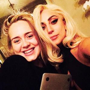 Adele and Lady Gaga selfie