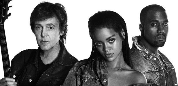Rihanna, Kanye West And Paul McCartney