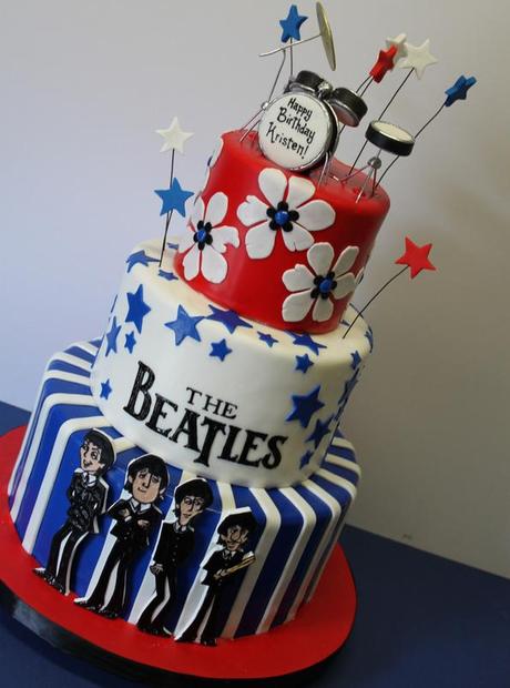 music inspired beatles cake