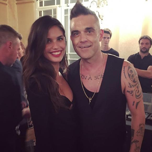 Robbie Williams And Sara Sampaio