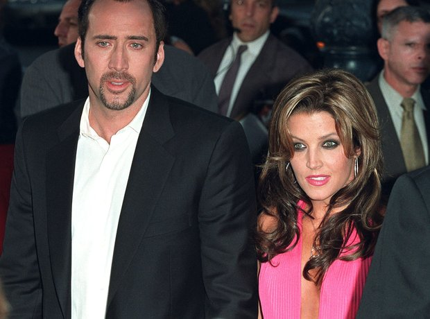 Nicolas Cage and Lisa Marie-Presley