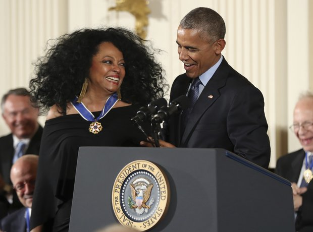 Diana Ross President Obama