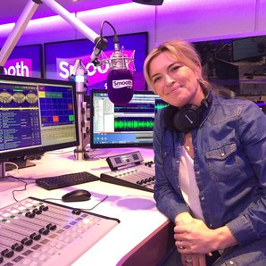Tina Hobley in the studio